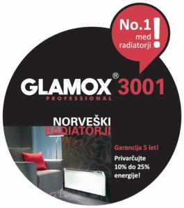 Električni radiator Glamox-3001