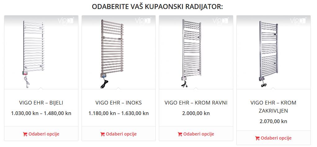 kupaonski radijator